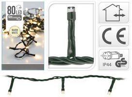 Kerstverlichting 120 LED warm wit buiten/binnen 9 meter