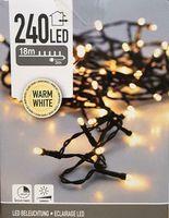 Kerstverlichting 240 LED warm wit buiten/binnen 18 meter