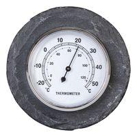 Esschert Thermometer Leisteen Rond