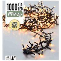 Micro cluster kerstverlichting 1000 LED extra warm wit buiten/binnen 20 meter