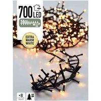 Micro cluster kerstverlichting 700 LED extra warm wit buiten/binnen 14 meter