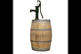 Houten Regenton Kastanje 200 Liter met Pomp