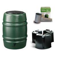 Harcostar Kunststof Regenton Groen 168 Liter Met Voet en Vulautomaat