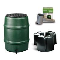 Harcostar Kunststof Regenton Groen 114 Liter Met 3 Delige Voet en Vulautomaat