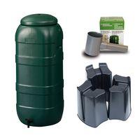 Harcostar Rainsaver Regenton 100 Liter Groen met Vulautomaat en 3 delige Voet