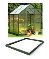 Royal Well Tuinkas en Fundering Popular 46 Groen Gecoat Polycarbonaat 4mm