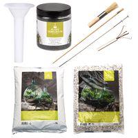 Esschert Set voor Plant Terrarium Witte Stenen