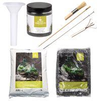 Esschert Set voor Plant Terrarium Zwarte Stenen