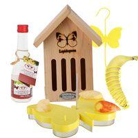 Esschert Insectenhotel Vlinderkast Set met Nectar Voederschaal en Voederhouder