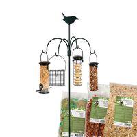 Esschert Vogelvoederhanger met Plastic Huisjes en Voer