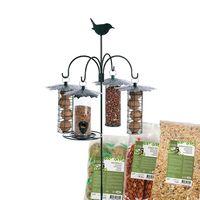 Esschert Vogelvoederhanger met Stalen Huisjes en Voer