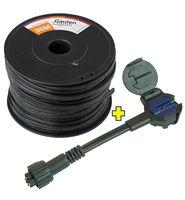 Garden Lights Flex Hoofdkabel Inclusief Connector Male SPT-2 50 m
