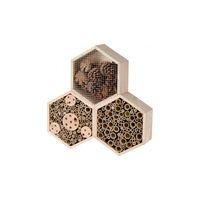 Insectenhotel Hexagon Naturel 3 Deels