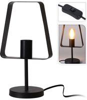 Tafellamp Metaal Zwart - Art Deco Minimalistische Lampvorm