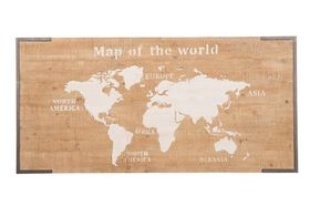 Dijk Natural Collections | Houten Wanddecoratie Wereldkaart 160 x 78 cm