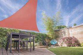 Schaduwdoek Driehoek Terracotta 5 x 5 x 5 Meter