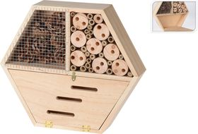 Insectenhotel Hexagon Naturel Hout