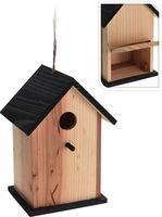 Vogelhuis Hout, Invliegopening ca. 22cm Zwart