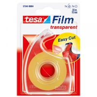 Tesa Film Plakband + Easy Cut Dispenser 15 mm 33 Meter