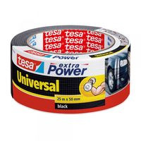 Tesa Extra Power Universal Tape Zwart 50 mm 25 Meter