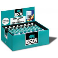 Bison Hard Plastic Lijm Tube 25 ml - 24 Stuks