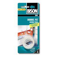 Bison Tape Dubbel Fix Verwijderbaar Wit 19 mm 1.5 Meter