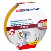 Tesa Powerbond Montagetape Indoor 50 kg 19 mm 5 Meter