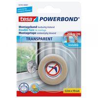 Tesa Powerbond Montagetape Transparant 19 mm 1.5 Meter
