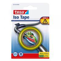 Tesa Isolatietape Groen/Geel 15 mm 10 Meter