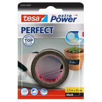 Tesa Extra Power Perfect Textieltape Zwart 19 mm 2.75 Meter