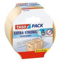 Tesa Verpakkingstape Extra Strong Transparant 50 mm 66 Meter