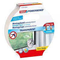 Tesa Powerbond Montagetape Transparant 19 mm 5 Meter