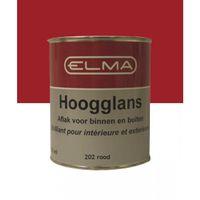 Elma Lakverf Zijdeglans Rood 202 - 750 ml