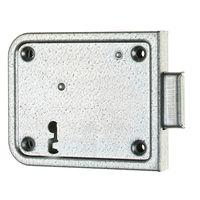 Opleg-kelderslot voor BB / 70 mm / L+R bruikbaar / 2 toeren / incl. sleutelplaat , 2 sleutels en sluitplaat / staal verzinkt