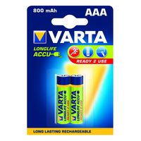 Varta Oplaadbare Batterij AAA 800 mAh 2 Stuks