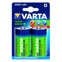 Varta Oplaadbare Batterij D 3000 mAh 2 Stuks