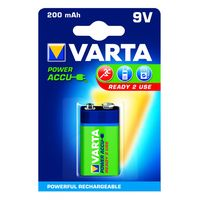 Varta Oplaadbare Blokbatterij 9 Volt 200 mAh