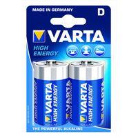 Varta Alkaline Batterij High Energy D 2 Stuks
