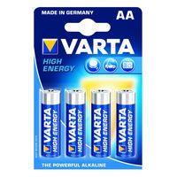 Varta Alkaline Batterij High Energy AA 4 Stuks