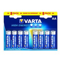 Varta Alkaline Batterij High Energy AA 8 Stuks