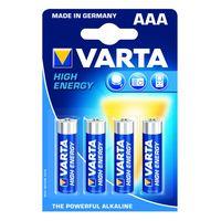 Varta Alkaline Batterij High Energy AAA 4 Stuks