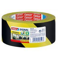 Tesa Universal Waarschuwingstape Geel/Zwart 50 mm 66 Meter