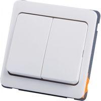 PEHA Inbouwschakelaar 2xWissel Wit