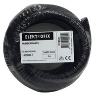 Elektrofix Rubber Neopreen Kabel 5 x 2.5 mm2 - 2 Meter