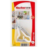 Fischer Plug SB8/7K Met Schroefhaak Wit 2 Stuks