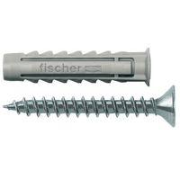 Fischer Plug S Nylon Met Schroef 6 x 45 mm 15 Stuks