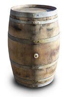 Houten Regenton Eiken Met Deksel & Handvat - 225 Liter