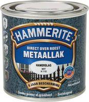 Hammerite Metaallak Hamerslag Wit H110 - 750 ml