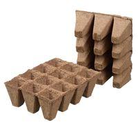 Nature Turfpottrays H5x4x4cm 12 trays - 12 Stuks
