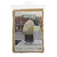 Nature Winterafdekhoes met Koord Beige Ø50cmx1m - 3 Stuks